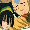 eruthros: Toph, Aang, and Momo from Avatar: TLA hugging Sokka (Avatar - group hug!)