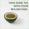 kaigou: have some tea with your round cake (3 tea and cake)