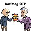 "salinea: Xavier & Magneto fist bumping, ""Xav/Mag OTP"" (shipping)"